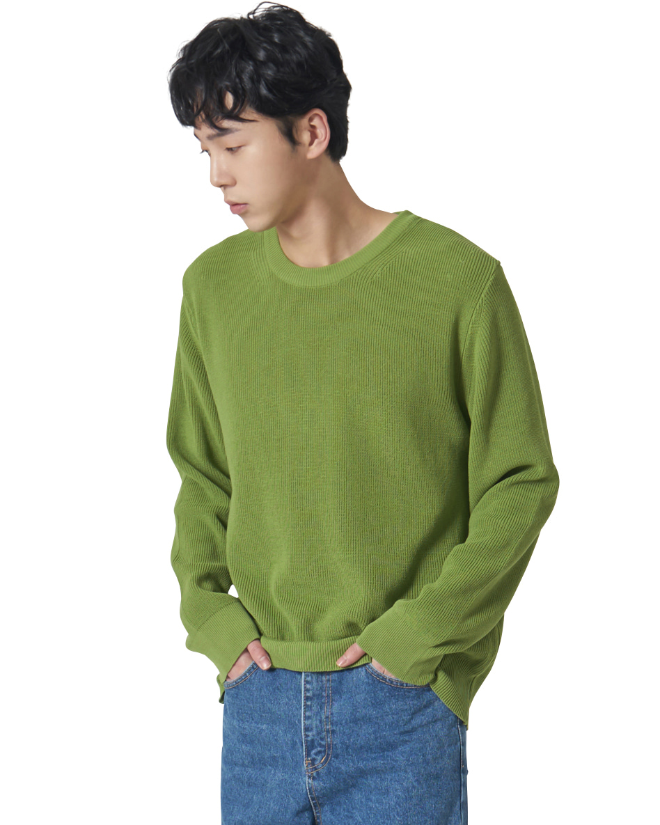 Relaxed Cotton Knit _ green