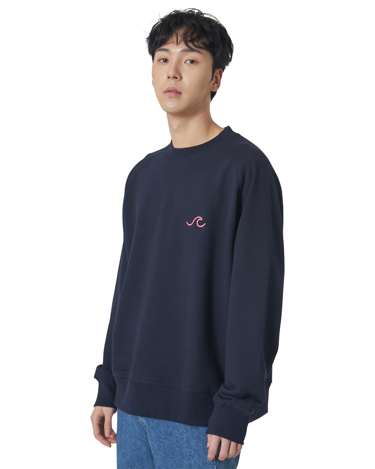 Raglan Logo Sweat Shirts _ navy