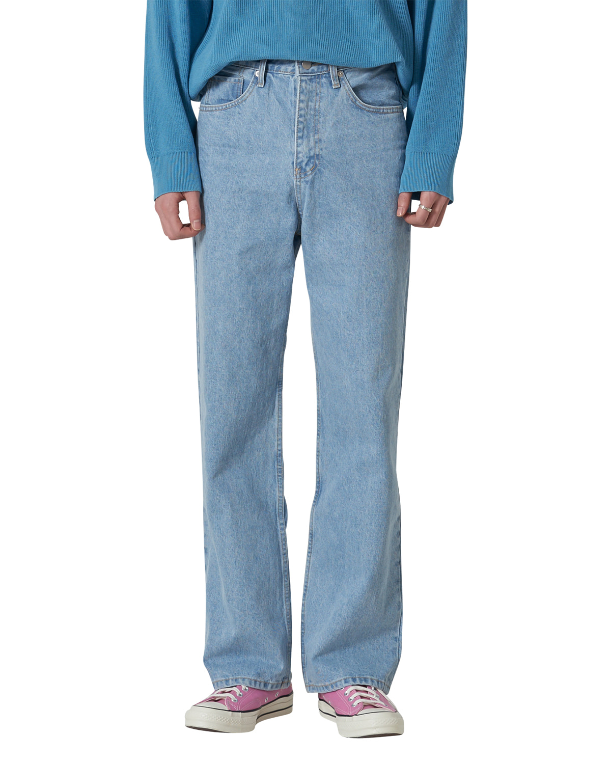 Wide Denim Pants _ light blue